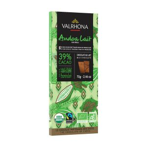 Valrhona ANDOA MILK 39% Fairtrade Chocolate Tasting Bar