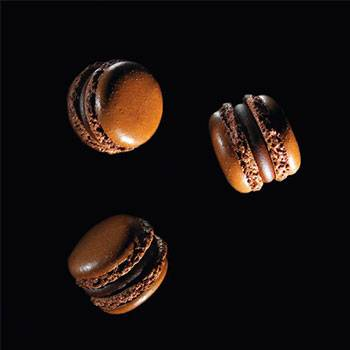 Dark Chocolate Macarons