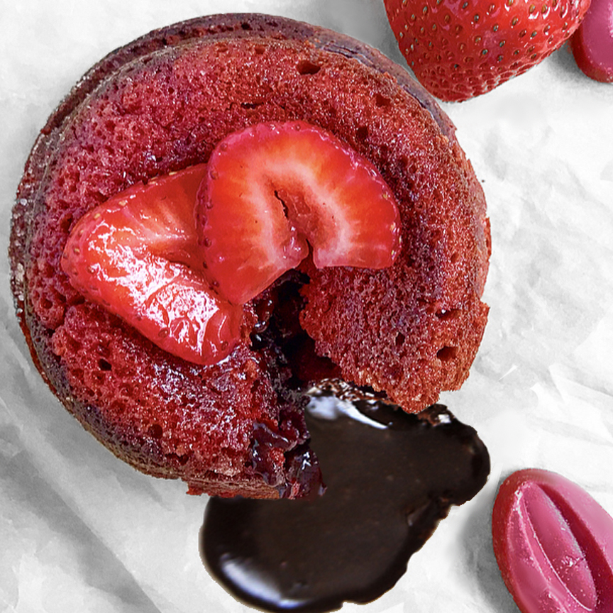 STRAWBERRY LAVA CAKES