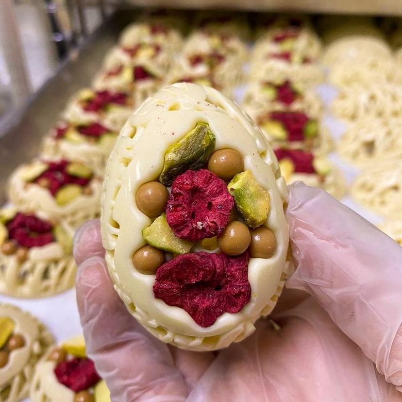 Cacao & Cardamom Mendiant Eggs