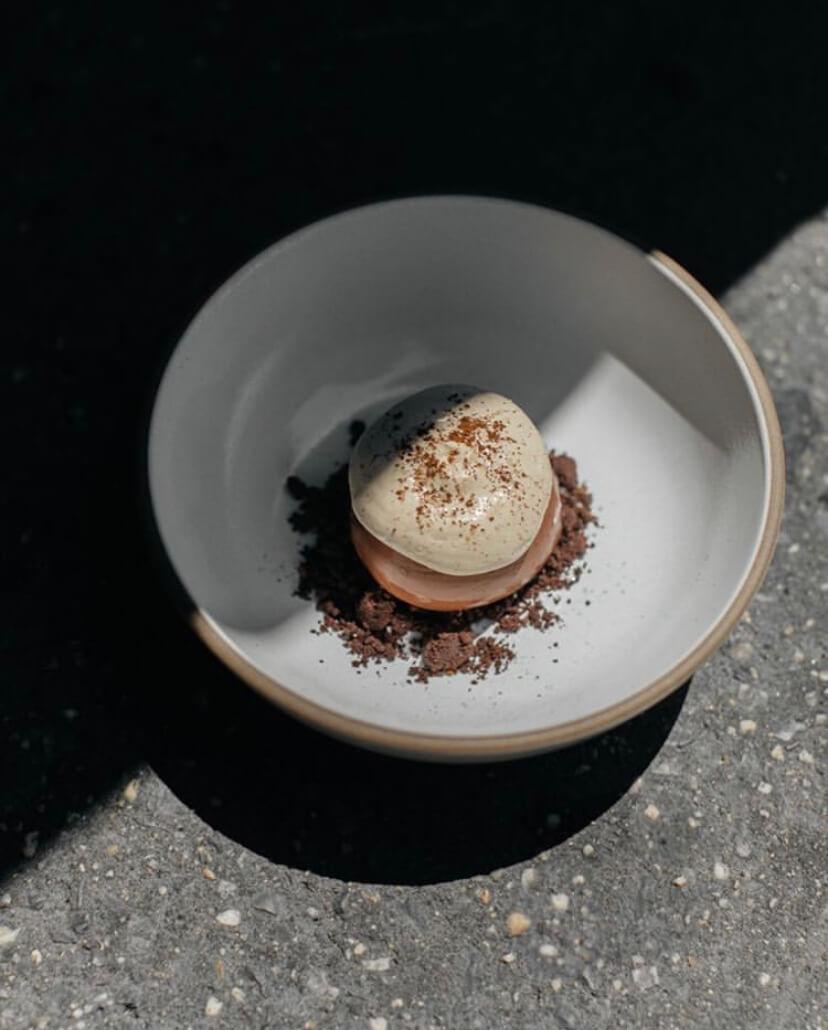Isabel Coss Chaga Mushroom Plated Dessert