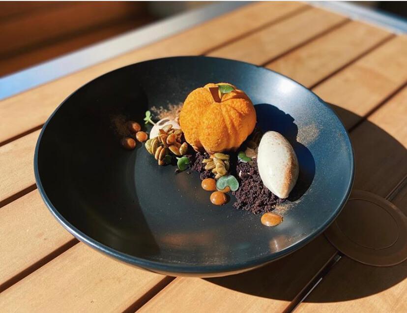 Jio Dingayan Pumpkin Plated Dessert