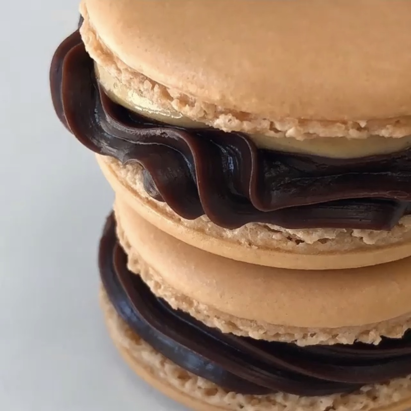 Peanut Butter Cup Macaron by Sciascia Confections