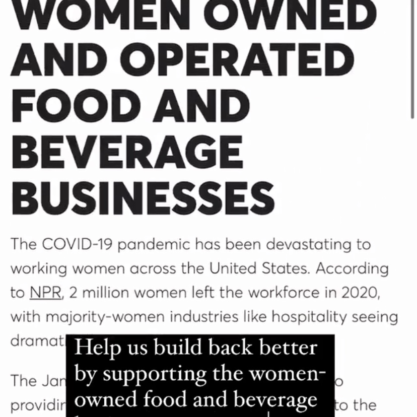 James Beard Foundation Women-Owned Businesses Repost