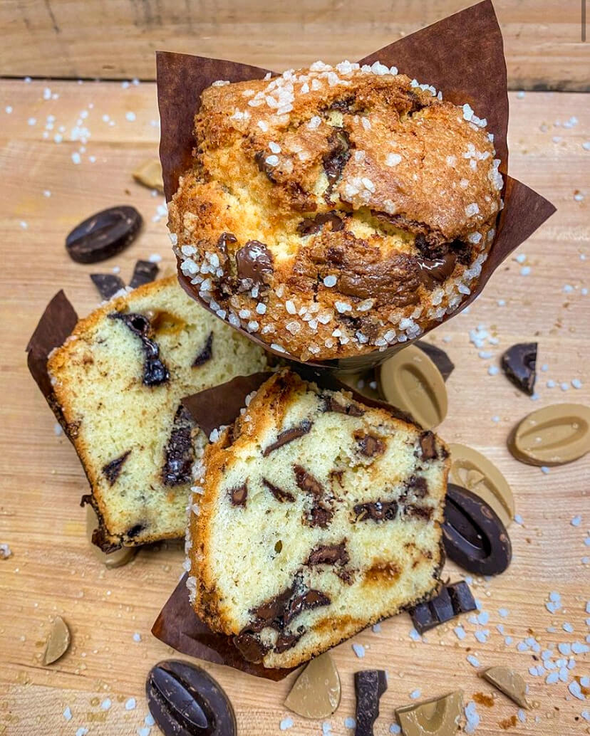 Arethusa A Mano Brown Butter and Sour Cream Chocolate Chip Muffins