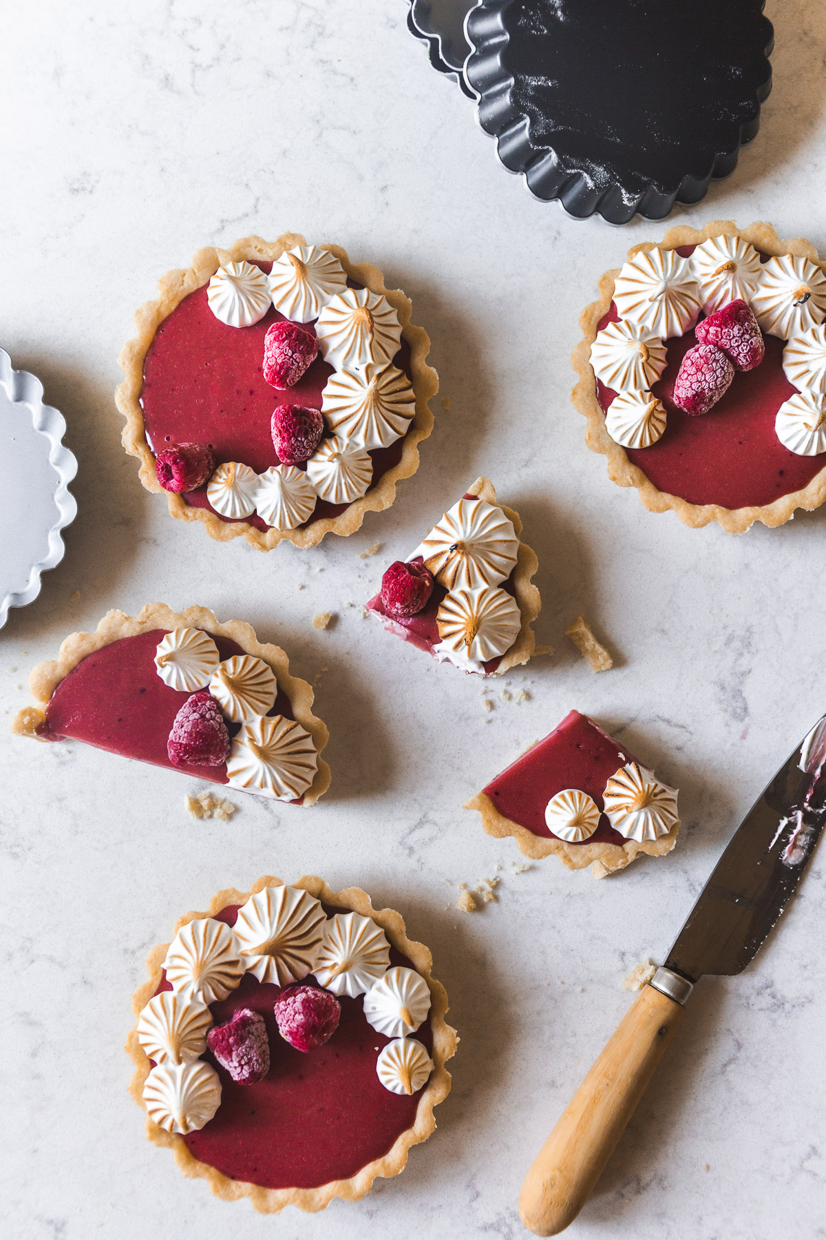 RASPBERRY INSPIRATION and Hibiscus Meringue Tartlets Recipe by Karlee Flores