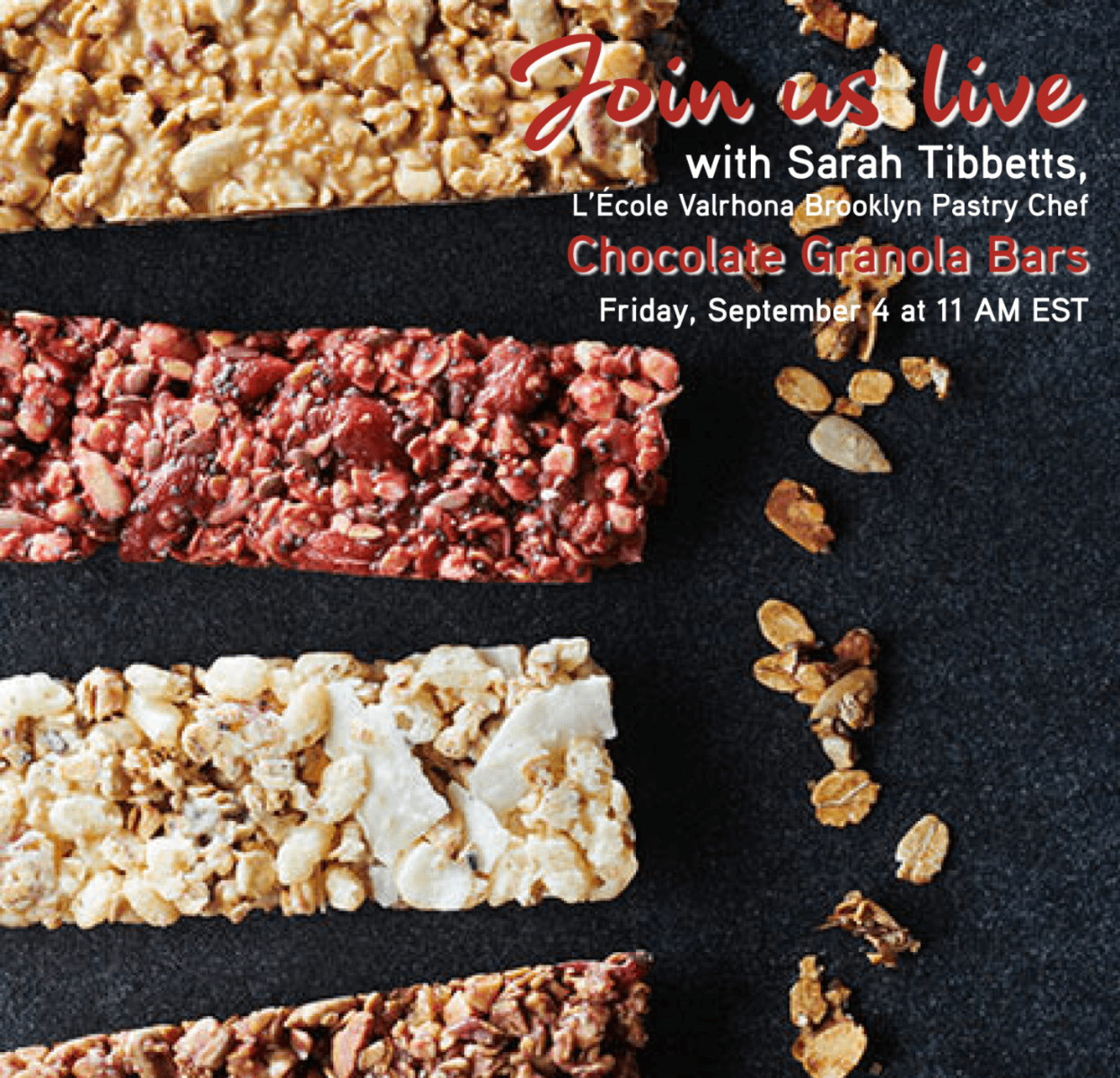 Announcing IG Live with Sarah: Granola Bars