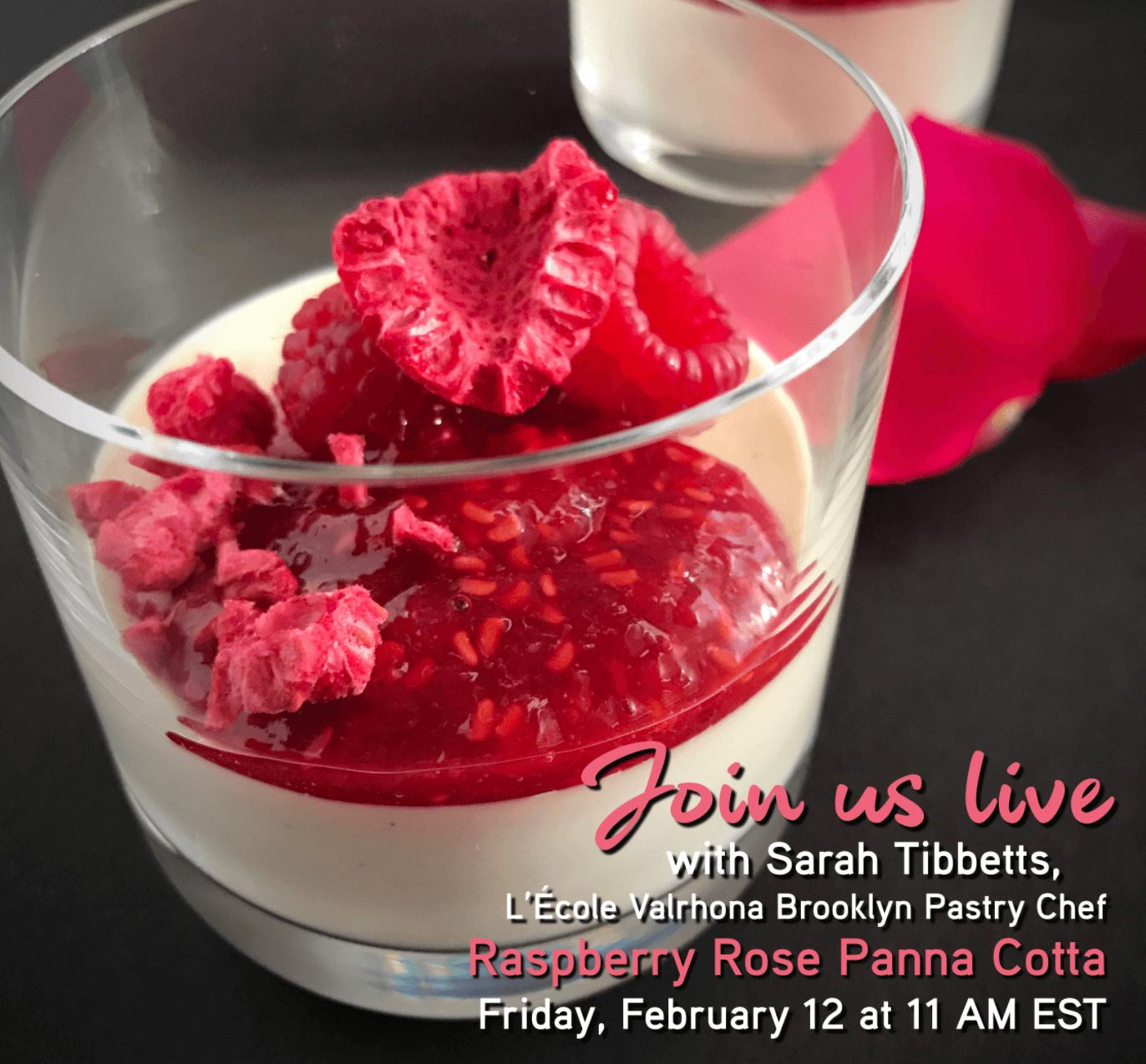 Announcing IG Live: Raspberry Rose Panna Cotta