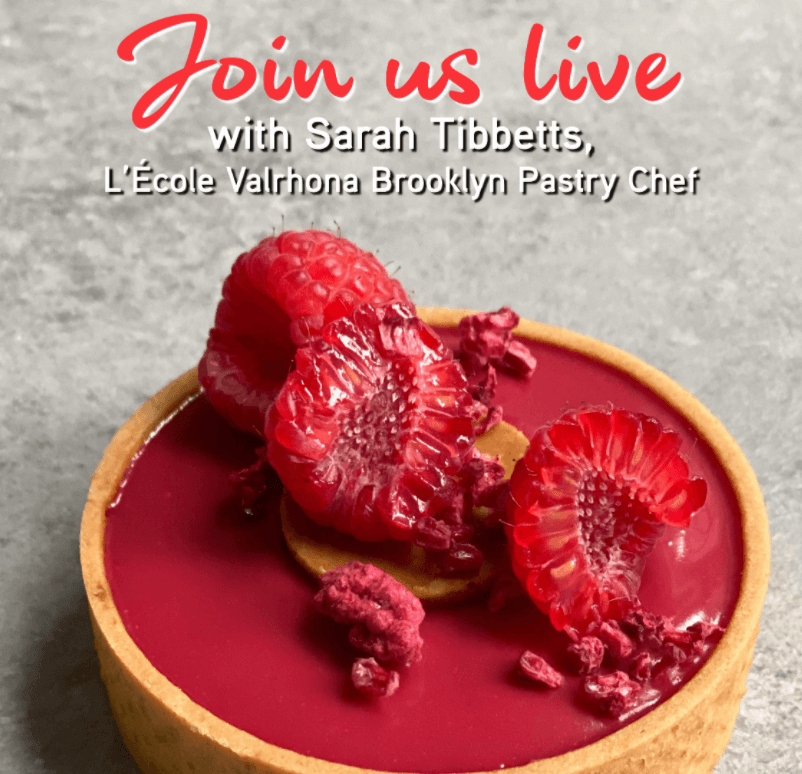 Announcing IG Live with Sarah: Vegan RASPBERRY and ALMOND INSPIRATON Tart