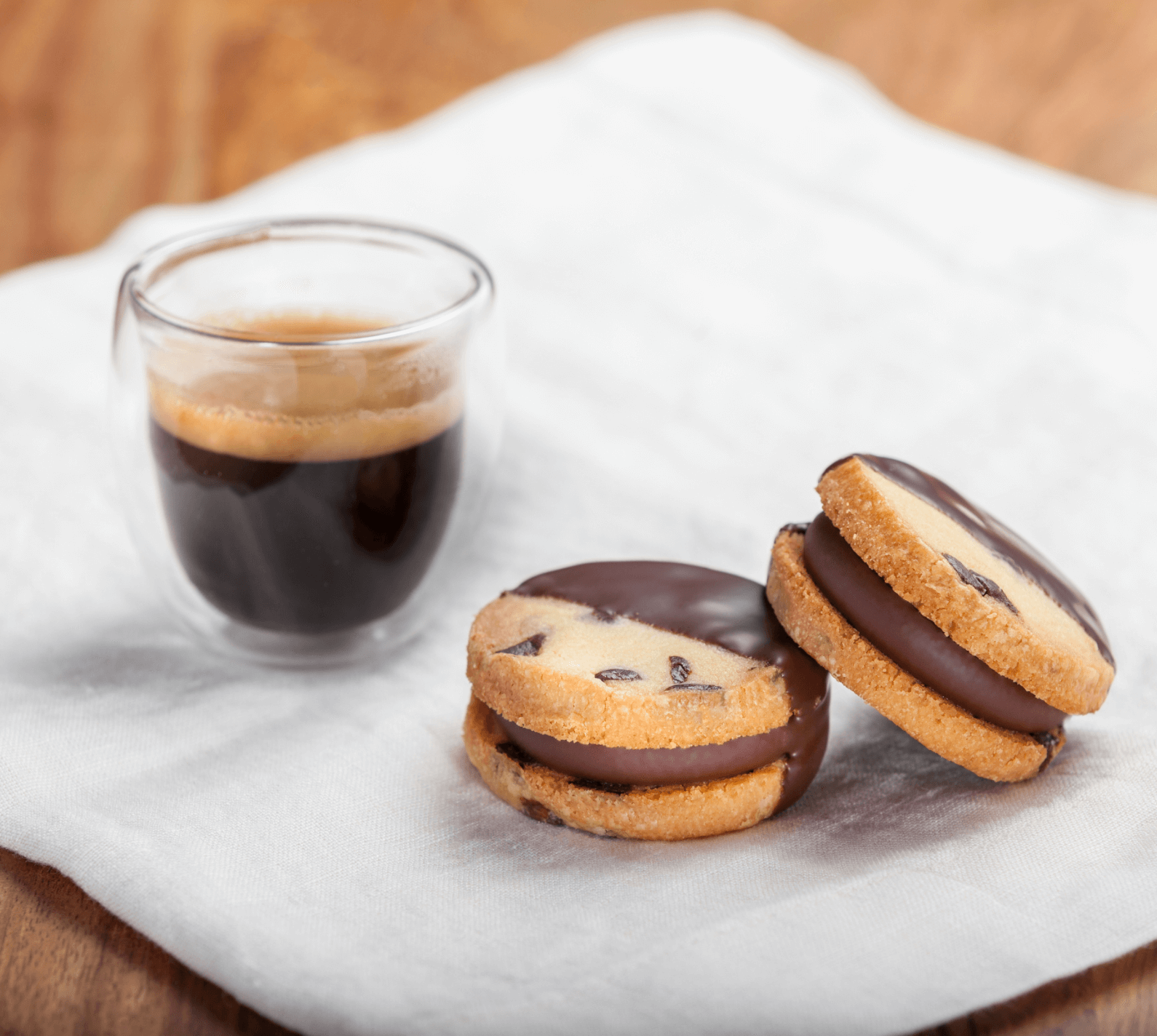 Chocolate Pearls Sandwich Cookies Recipe