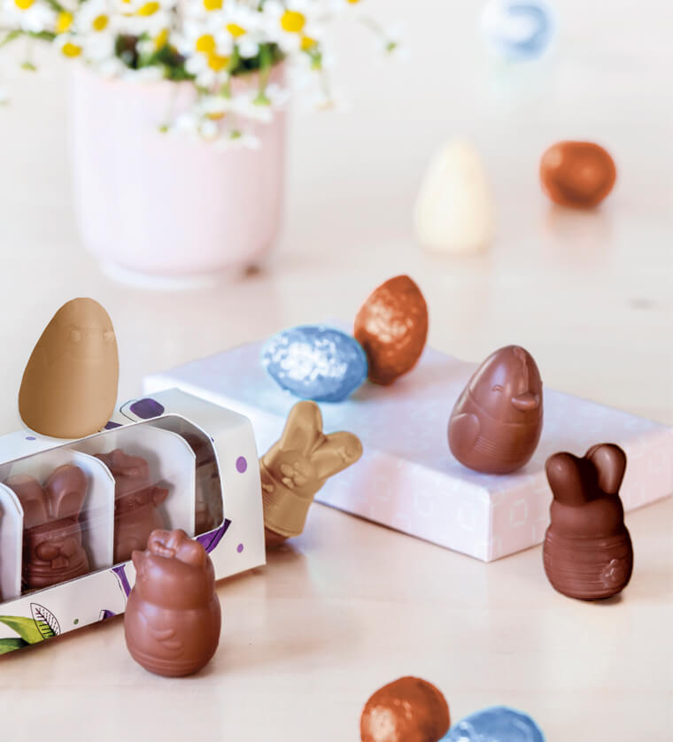 Chocolate Eggs and Easter Animals for Retail